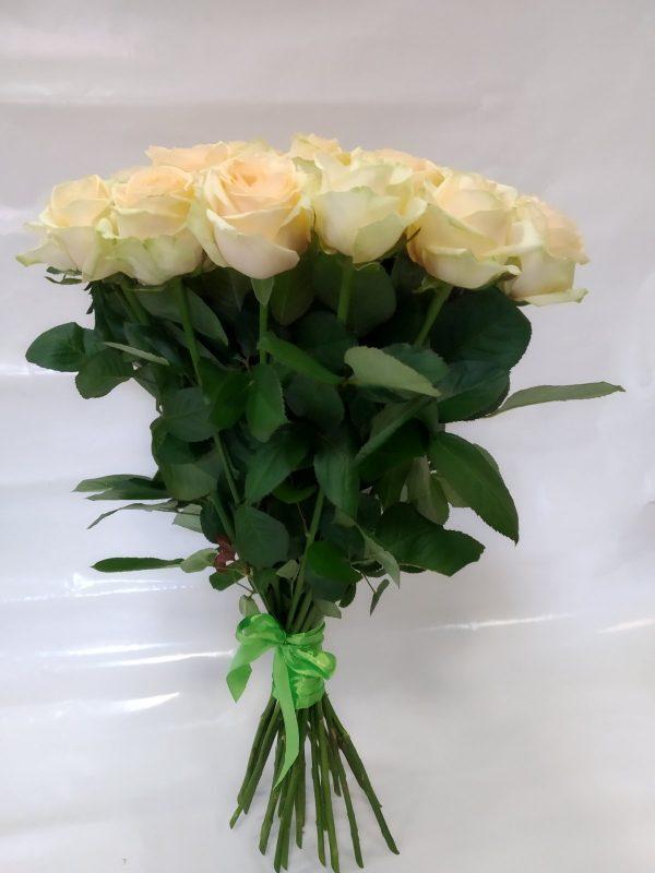 Персиковая роза 60 см 25 штук