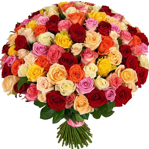 """Букет из роз """"Цветочный микс"""""""