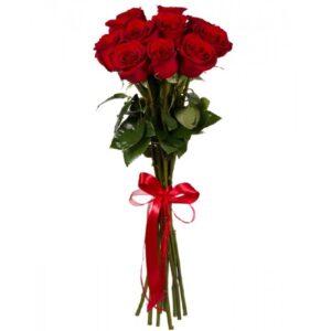 Красная роза 100 см 11 штук