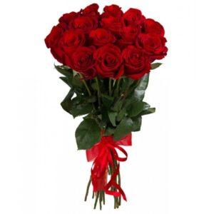 Красная роза 90 см 15 штук