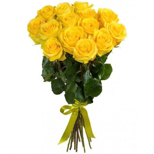 Желтая роза Пени Лайн 80 см 15 штук