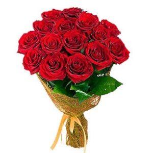 Букет из красных роз 15 шт