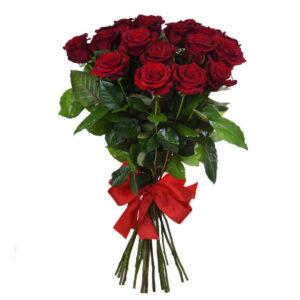 Красная роза 80 см 21 штука