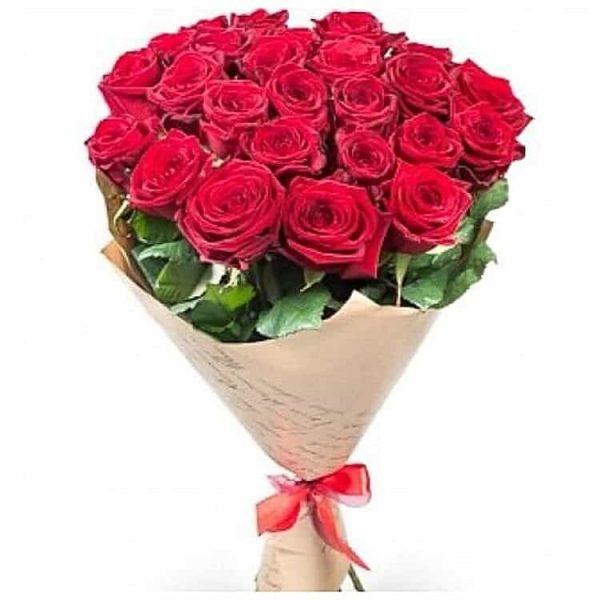 Красная роза 50 см 21 штука