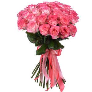 Роза бело розовая Джумилия 70 см 33 штуки