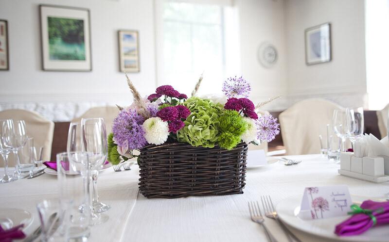 Живые цветы на свадьбу 1
