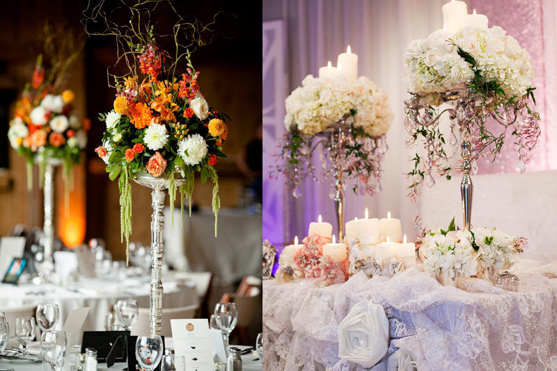 Цветы на свадебный стол 1
