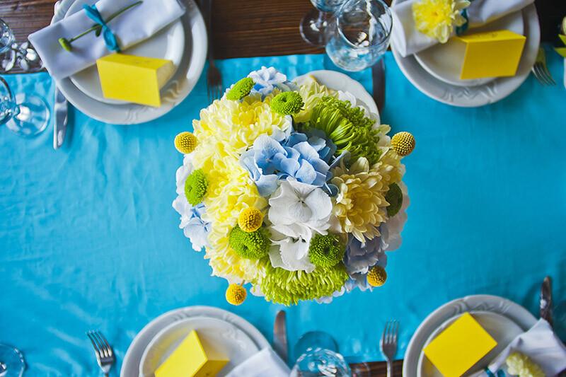 Цветы на свадебный стол 2