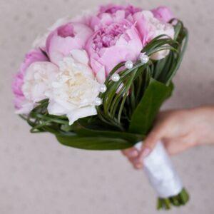 Свадебный букет невесты «Розовые пионы»