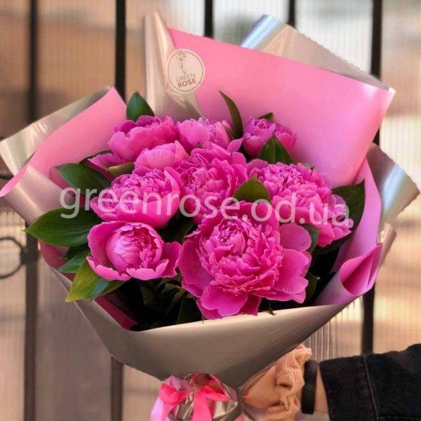 Букет из пионов Розовое чудо