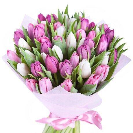 Букет 51 тюльпан № 122
