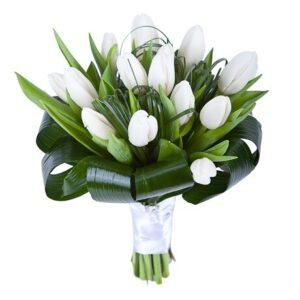Букет 15 тюльпанов № 129