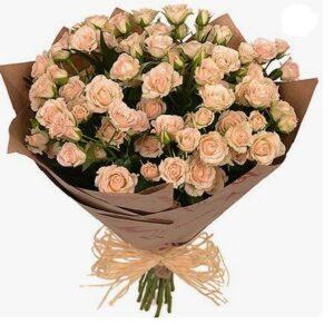 Букет из кустовой розы № 160