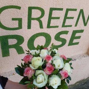 15 роз в шляпной коробке № 36