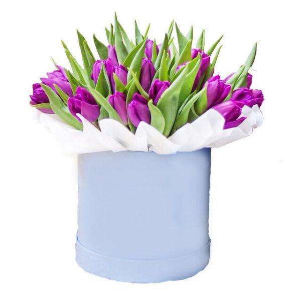 45 тюльпанов в коробке №22