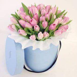 51 тюльпан в коробке № 21