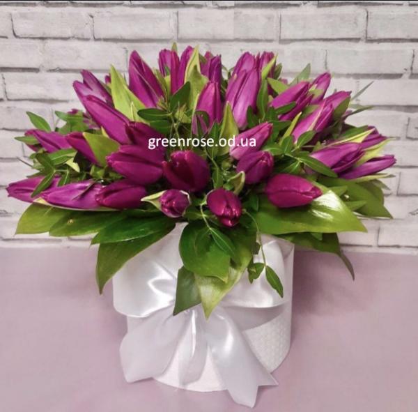 39 тюльпанов в коробке № 45