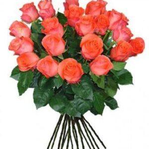 Коралловая роза 70 см 15 штук