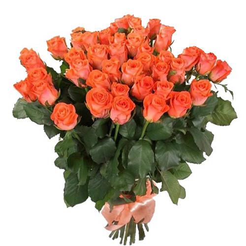 Коралловая роза 60 см 35 штук