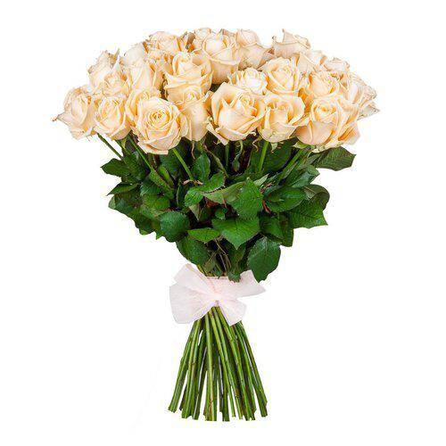 Персиковая роза 60 см 35 штук