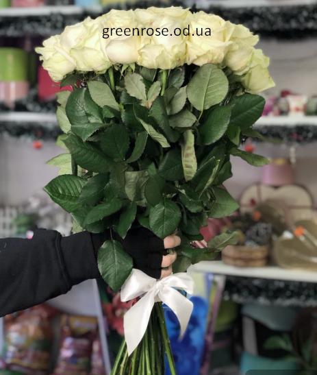 Букет 25 белых роз №173