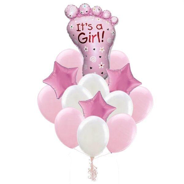 Набор шаров для новорожденной девочки
