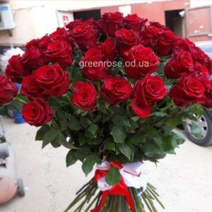 букет красных роз 50 см