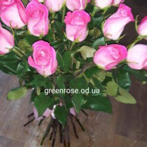 розы розовые 70 см букет