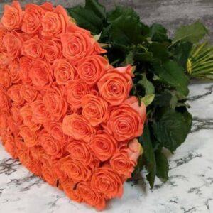 Коралловая роза Вау 51 штука