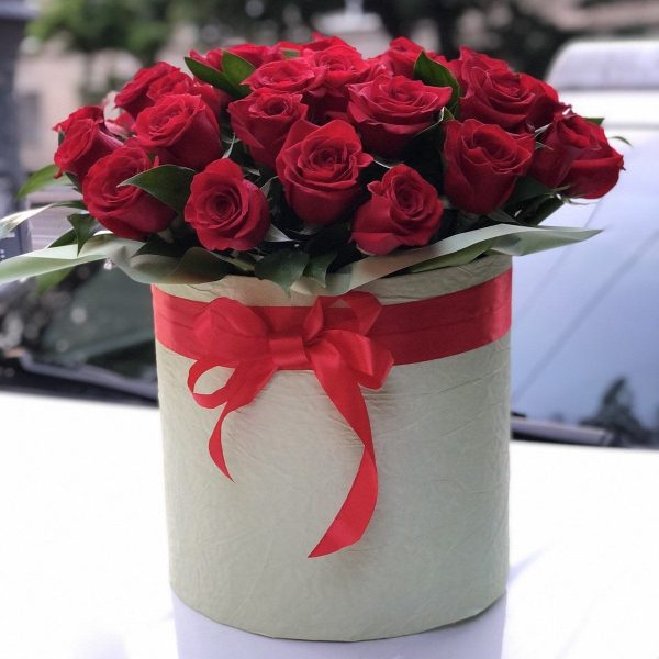 51 Роза Эквадор красная в коробке