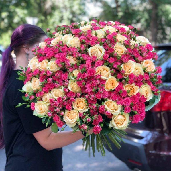Сборный букет 101 Роза букет