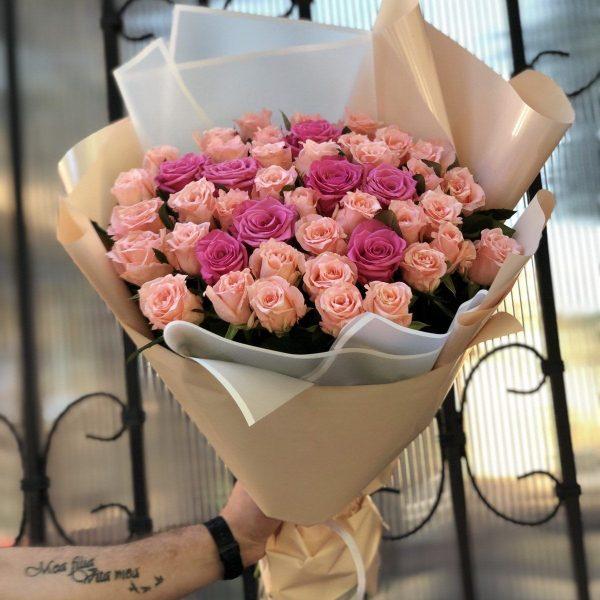 Роза микс 45 шт