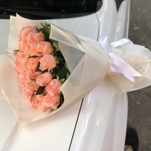 Розовые розы 35 шт
